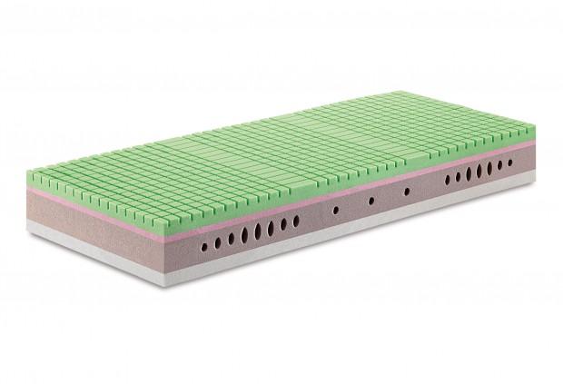 Materasso Sottosopra massello soia memory e lattice