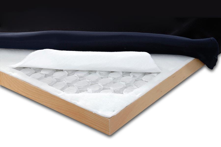 Strati del piano letto con molle BoxSpring Light Manifattura Falomo