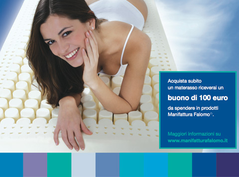 Materassi Falomo: campagna promozionale con buono sconto di 100 euro