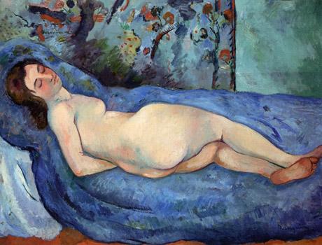 donna materasso dipinto