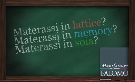 Materassi in lattice, memory e soia. Quali sono le differenze?