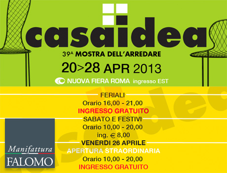 Casaidea 2013: Materassi Falomo alla mostra dell'arredare di Roma!