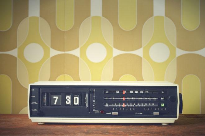 Radio sveglia a tempo di musica
