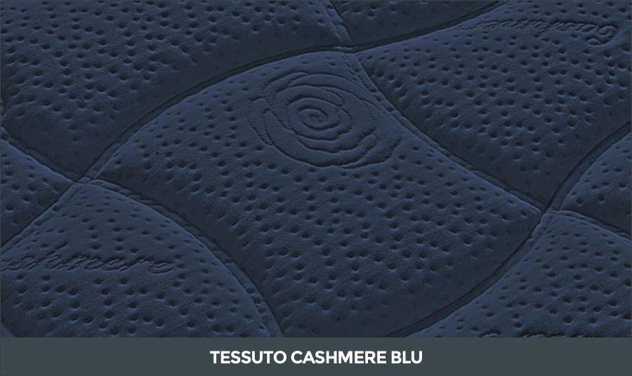 Fodera in cashmere e viscosa di colore blu